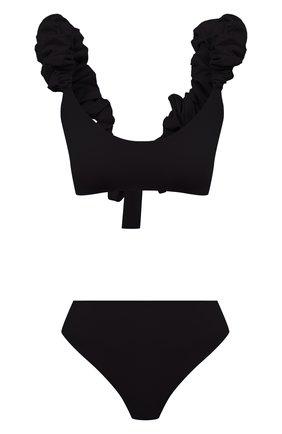 Женский раздельный купальник MAYGEL CORONEL черного цвета, арт. BK-060 | Фото 1 (Материал внешний: Синтетический материал; Длина Ж (юбки, платья, шорты): Мини; Женское Кросс-КТ: Раздельные купальники)