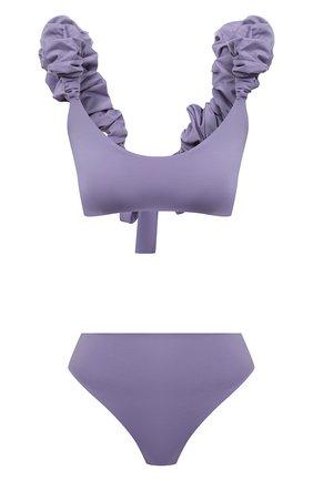 Женский раздельный купальник MAYGEL CORONEL фиолетового цвета, арт. BK-060 | Фото 1 (Длина Ж (юбки, платья, шорты): Мини; Материал внешний: Синтетический материал; Женское Кросс-КТ: Раздельные купальники)
