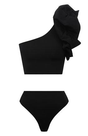 Женский раздельный купальник MAYGEL CORONEL черного цвета, арт. BK-061 | Фото 1 (Длина Ж (юбки, платья, шорты): Мини; Материал внешний: Синтетический материал; Женское Кросс-КТ: Раздельные купальники)