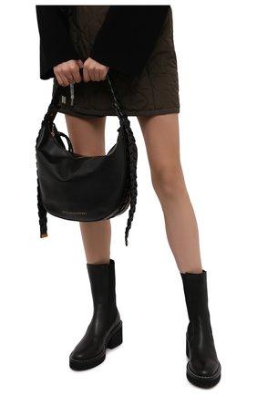 Женская сумка mackintosh medium STELLA MCCARTNEY черного цвета, арт. 700234/W8775 | Фото 2 (Материал: Текстиль, Экокожа; Размер: medium; Ремень/цепочка: На ремешке; Сумки-технические: Сумки top-handle)