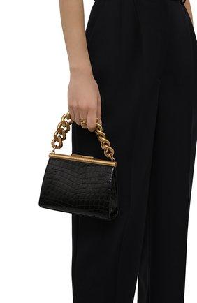 Женская сумка chunky chain small STELLA MCCARTNEY черного цвета, арт. 700211/W8778 | Фото 2 (Ремень/цепочка: На ремешке; Материал: Текстиль, Экокожа; Размер: small; Сумки-технические: Сумки top-handle)
