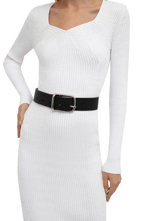 Женский кожаный ремень CHLOÉ черного цвета, арт. CHC21WC070815 | Фото 2