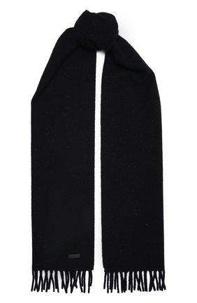 Мужской шарф из шерсти и кашемира BOSS темно-синего цвета, арт. 50458444 | Фото 1 (Материал: Шерсть; Кросс-КТ: шерсть)