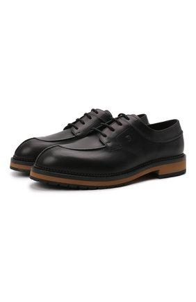 Мужские кожаные дерби TOD'S черного цвета, арт. XXM09I0EW30NHV | Фото 1 (Материал внутренний: Натуральная кожа; Стили: Классический)