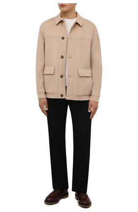 Мужские кожаные дерби TOD'S коричневого цвета, арт. XXM09I0EW30QN4 | Фото 2 (Материал внутренний: Натуральная кожа; Стили: Классический)