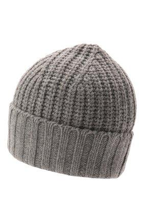Мужская шапка POLO RALPH LAUREN серого цвета, арт. 449853941 | Фото 2 (Материал: Текстиль, Синтетический материал; Кросс-КТ: Трикотаж)