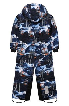 Детский утепленный комбинезон hux MOLO синего цвета, арт. 5W21N203   Фото 2 (Материал внешний: Синтетический материал; Рукава: Длинные; Девочки Кросс-КТ: Комбинезон-верхняя одежда)
