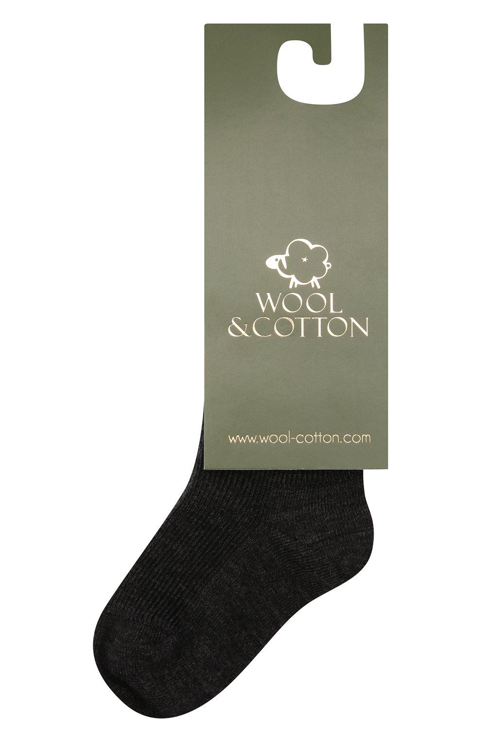 Детские шерстяные носки WOOL&COTTON черного цвета, арт. NMML   Фото 1 (Материал: Шерсть)
