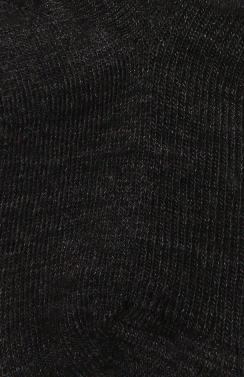 Детские шерстяные носки WOOL&COTTON черного цвета, арт. NMML   Фото 2 (Материал: Шерсть)