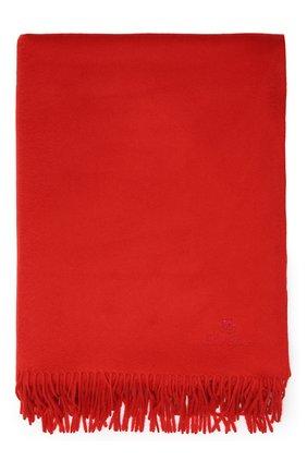 Кашемировый плед LORO PIANA красного цвета, арт. FAA1158 | Фото 1