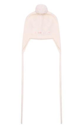 Детского шерстяная шапка BABY T белого цвета, арт. 21AI124CUP | Фото 1 (Материал: Шерсть)