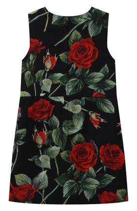 Детское платье из вискозы DOLCE & GABBANA черного цвета, арт. L52DX5/FS8CR/2-6 | Фото 2 (Материал подклада: Вискоза; Материал внешний: Вискоза; Рукава: Короткие; Случай: Повседневный; Девочки Кросс-КТ: Платье-одежда)