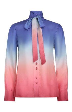 Женская шелковая блузка ZIMMERMANN разноцветного цвета, арт. 1170TPOS/   Фото 1 (Материал внешний: Шелк; Стили: Бохо; Принт: С принтом; Рукава: Длинные; Женское Кросс-КТ: Блуза-одежда)