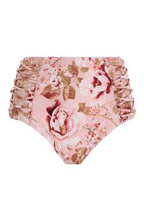 Женский плавки-бикини ZIMMERMANN светло-розового цвета, арт. 2590WROSB/   Фото 1 (Женское Кросс-КТ: Раздельные купальники; Материал внешний: Синтетический материал; Стили: Бохо)