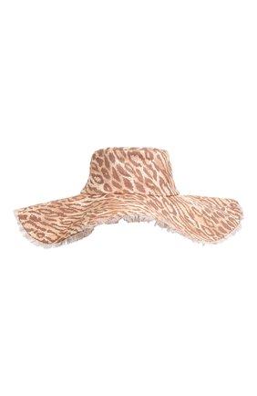 Женская шляпа ZIMMERMANN леопардового цвета, арт. 3723RS22/   Фото 1 (Материал: Текстиль)