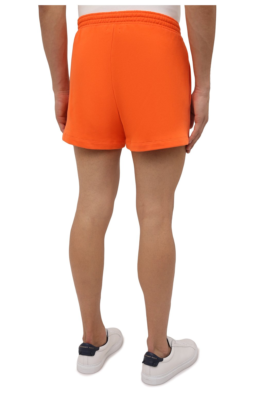 Мужского хлопковые шорты PANGAIA оранжевого цвета, арт. 21FSU11-013-FEM002   Фото 7 (Женское Кросс-КТ: Шорты-одежда, Шорты-спорт; Длина Ж (юбки, платья, шорты): Мини; Стили: Спорт-шик)