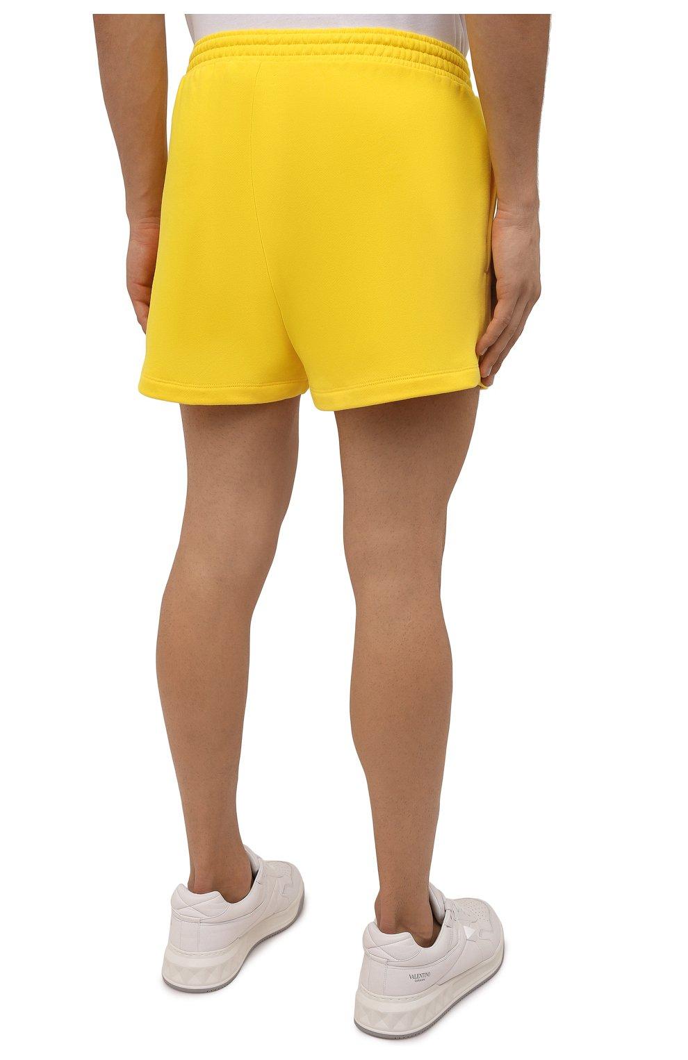 Мужского хлопковые шорты PANGAIA желтого цвета, арт. 20FSU01-014-FEM002   Фото 7 (Женское Кросс-КТ: Шорты-одежда, Шорты-спорт; Длина Ж (юбки, платья, шорты): Мини; Стили: Спорт-шик)