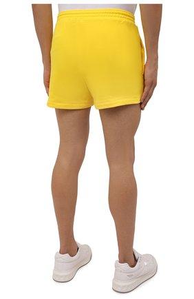 Мужского хлопковые шорты PANGAIA желтого цвета, арт. 21FSU11-014-FEM002   Фото 7 (Женское Кросс-КТ: Шорты-одежда, Шорты-спорт; Длина Ж (юбки, платья, шорты): Мини; Стили: Спорт-шик)