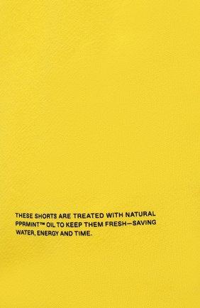 Мужского хлопковые шорты PANGAIA желтого цвета, арт. 21FSU11-014-FEM002   Фото 8 (Женское Кросс-КТ: Шорты-одежда, Шорты-спорт; Длина Ж (юбки, платья, шорты): Мини; Стили: Спорт-шик)