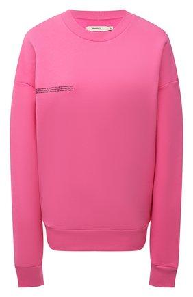 Мужские хлопковый свитшот PANGAIA розового цвета, арт. 20FCU01-015-FE0R02 | Фото 1 (Рукава: Длинные; Стили: Спорт-шик; Длина (для топов): Стандартные; Женское Кросс-КТ: Свитшот-одежда, Свитшот-спорт)