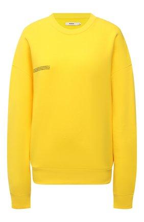 Мужские хлопковый свитшот PANGAIA желтого цвета, арт. 20FCU01-014-FE0R02   Фото 1 (Стили: Спорт-шик; Рукава: Длинные; Длина (для топов): Стандартные; Женское Кросс-КТ: Свитшот-одежда, Свитшот-спорт)