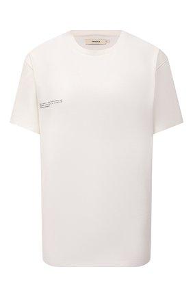Мужского хлопковая футболка PANGAIA белого цвета, арт. 20JTU01-111-JM0S02   Фото 1 (Стили: Спорт-шик; Длина (для топов): Стандартные; Женское Кросс-КТ: Футболка-спорт, Футболка-одежда; Рукава: Короткие)