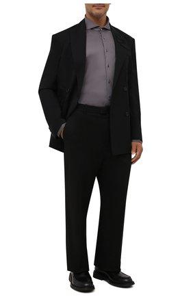 Мужская хлопковая рубашка VAN LAACK темно-серого цвета, арт. M-PER-LSF/180031/3XL | Фото 2 (Материал внешний: Хлопок; Принт: Однотонные; Рукава: Длинные; Случай: Повседневный; Манжеты: На пуговицах; Рубашки М: Regular Fit; Воротник: Акула; Стили: Классический)