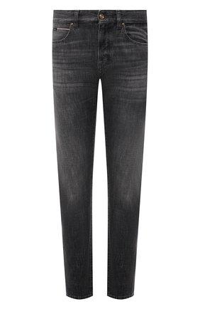 Мужские джинсы Z ZEGNA темно-серого цвета, арт. VY779/ZZ533 | Фото 1 (Длина (брюки, джинсы): Стандартные; Материал внешний: Хлопок; Кросс-КТ: Деним; Силуэт М (брюки): Прямые; Стили: Кэжуэл; Детали: Потертости)