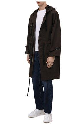 Мужские кожаные кеды BERLUTI белого цвета, арт. S5658-003   Фото 2 (Материал внутренний: Натуральная кожа; Подошва: Плоская)
