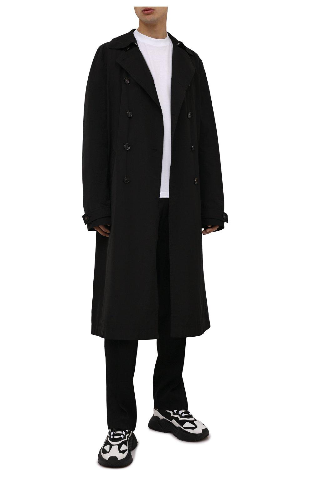Мужские комбинированные кроссовки daymaster DOLCE & GABBANA черно-белого цвета, арт. CS1941/AQ356 | Фото 2 (Материал внешний: Текстиль; Материал внутренний: Натуральная кожа; Стили: Гранж; Подошва: Массивная)