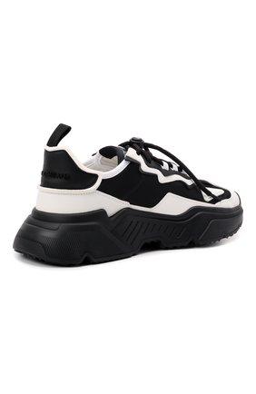 Мужские комбинированные кроссовки daymaster DOLCE & GABBANA черно-белого цвета, арт. CS1941/AQ356 | Фото 4 (Материал внешний: Текстиль; Материал внутренний: Натуральная кожа; Стили: Гранж; Подошва: Массивная)
