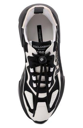 Мужские комбинированные кроссовки daymaster DOLCE & GABBANA черно-белого цвета, арт. CS1941/AQ356 | Фото 5 (Материал внешний: Текстиль; Материал внутренний: Натуральная кожа; Стили: Гранж; Подошва: Массивная)