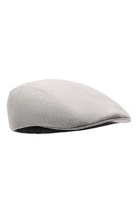 Мужская шерстяное кепи BRUNELLO CUCINELLI светло-серого цвета, арт. M038P9958 | Фото 1 (Материал: Шерсть)