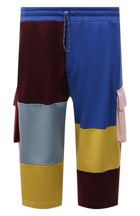 Мужские хлопковые шорты DOLCE & GABBANA разноцветного цвета, арт. GWHDAZ/G7YSH   Фото 1 (Материал внешний: Хлопок; Длина Шорты М: Ниже колена; Кросс-КТ: Трикотаж; Принт: С принтом; Стили: Спорт-шик)