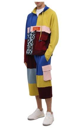 Мужской хлопковая толстовка DOLCE & GABBANA разноцветного цвета, арт. G9VA3Z/G7YSH   Фото 2 (Рукава: Длинные; Материал внешний: Хлопок; Длина (для топов): Стандартные; Мужское Кросс-КТ: свитшот-одежда; Принт: С принтом; Стили: Спорт-шик)