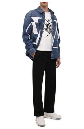 Мужская хлопковая футболка DOLCE & GABBANA белого цвета, арт. G8NQ2T/HU7IL | Фото 2 (Рукава: Короткие; Материал внешний: Хлопок; Длина (для топов): Стандартные; Принт: С принтом; Стили: Гранж)