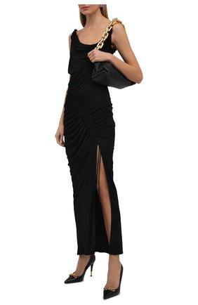 Женские кожаные туфли TOM FORD черного цвета, арт. W2992T-LSP002 | Фото 2 (Подошва: Плоская; Каблук высота: Высокий; Материал внутренний: Натуральная кожа; Каблук тип: Шпилька)