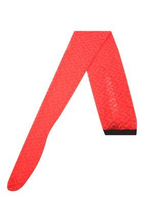 Женские колготки VERSACE красного цвета, арт. 1001545/1A01647 | Фото 1 (Материал внешний: Синтетический материал)