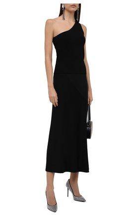 Женские кожаные туфли BALMAIN черного цвета, арт. WN1UA517/A0SC   Фото 2 (Подошва: Плоская; Материал внутренний: Натуральная кожа; Каблук высота: Высокий; Каблук тип: Шпилька)
