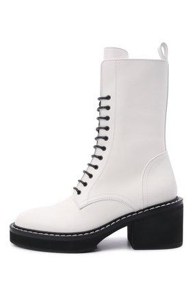 Женские кожаные ботинки cody KHAITE белого цвета, арт. F1022-722/C0DY | Фото 3 (Подошва: Платформа; Женское Кросс-КТ: Военные ботинки; Материал внутренний: Натуральная кожа; Каблук высота: Средний; Каблук тип: Устойчивый)