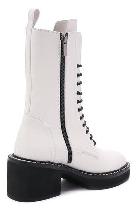Женские кожаные ботинки cody KHAITE белого цвета, арт. F1022-722/C0DY | Фото 4 (Подошва: Платформа; Женское Кросс-КТ: Военные ботинки; Материал внутренний: Натуральная кожа; Каблук высота: Средний; Каблук тип: Устойчивый)
