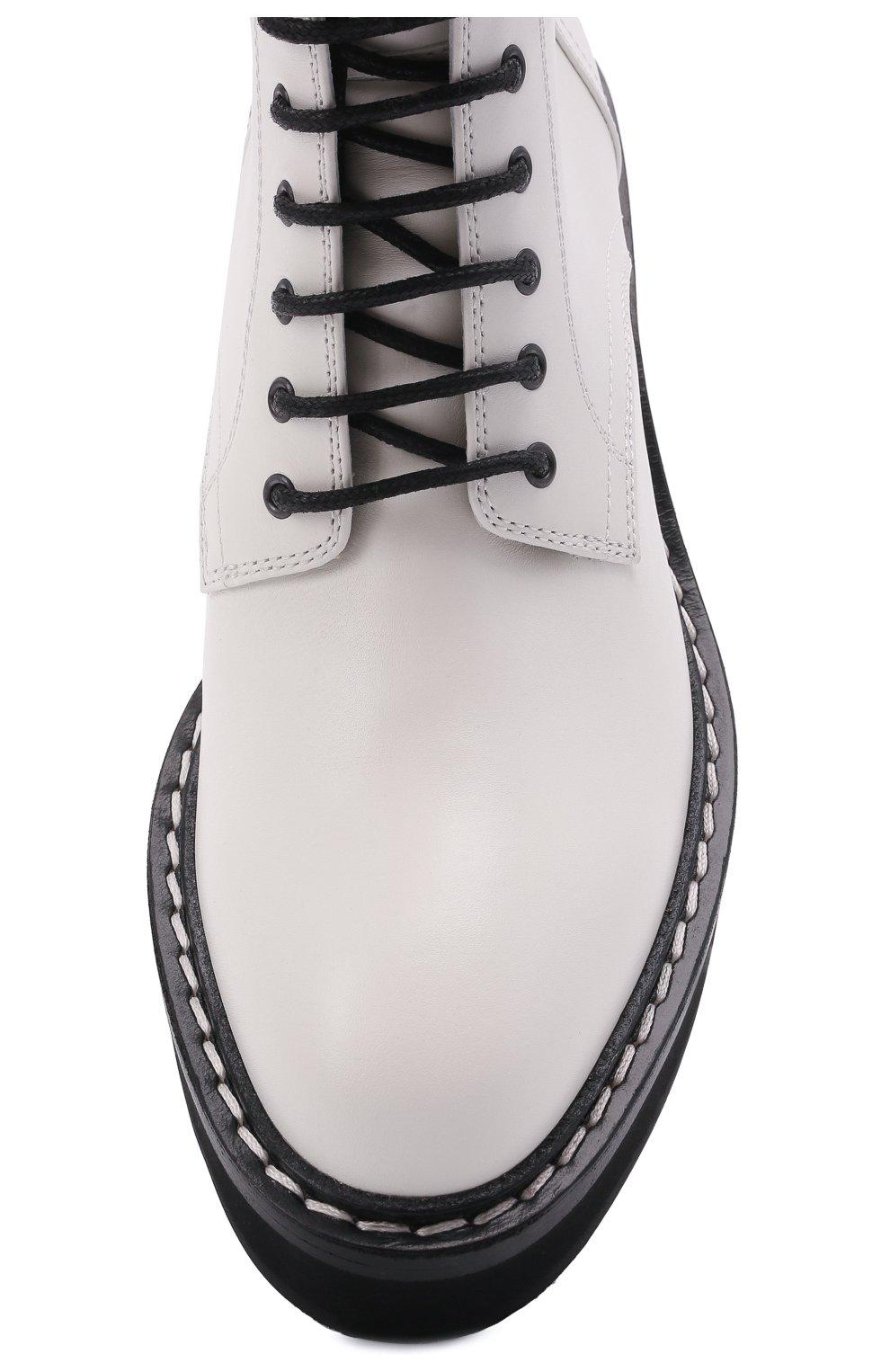 Женские кожаные ботинки cody KHAITE белого цвета, арт. F1022-722/C0DY | Фото 5 (Подошва: Платформа; Женское Кросс-КТ: Военные ботинки; Материал внутренний: Натуральная кожа; Каблук высота: Средний; Каблук тип: Устойчивый)