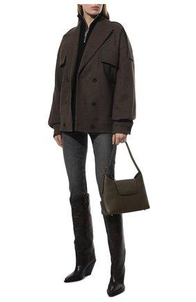 Женские кожаные сапоги lomero ISABEL MARANT темно-коричневого цвета, арт. L0MER0/BT0234-21H012S   Фото 2 (Высота голенища: Средние; Каблук высота: Высокий; Материал внутренний: Натуральная кожа; Подошва: Плоская; Каблук тип: Устойчивый)