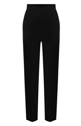Женские шерстяные брюки DOLCE & GABBANA темно-серого цвета, арт. FTAM2T/FQBAL | Фото 1 (Материал внешний: Шерсть; Длина (брюки, джинсы): Стандартные; Стили: Кэжуэл; Женское Кросс-КТ: Брюки-одежда; Силуэт Ж (брюки и джинсы): Прямые)
