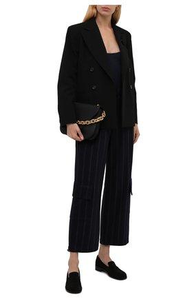 Женские брюки из шерсти и хлопка BRUNELLO CUCINELLI темно-серого цвета, арт. MD926P7785 | Фото 2 (Материал внешний: Шерсть; Длина (брюки, джинсы): Стандартные; Стили: Кэжуэл; Женское Кросс-КТ: Брюки-одежда; Силуэт Ж (брюки и джинсы): Широкие)