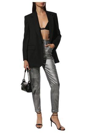Женские джинсы DOLCE & GABBANA серебряного цвета, арт. FTBXGD/G902Z | Фото 2 (Длина (брюки, джинсы): Стандартные; Материал внешний: Хлопок; Стили: Гламурный; Кросс-КТ: Деним; Силуэт Ж (брюки и джинсы): Скинни)