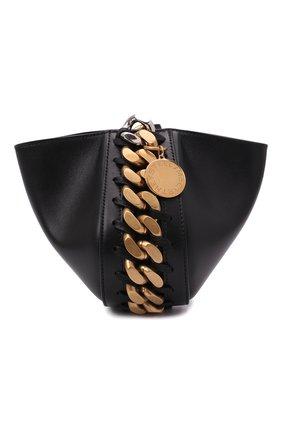 Женская сумка chunky chain STELLA MCCARTNEY черного цвета, арт. 700273/W8839 | Фото 1 (Материал: Текстиль, Экокожа; Размер: mini; Сумки-технические: Сумки через плечо)