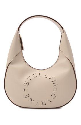 Женская сумка stella logo small STELLA MCCARTNEY кремвого цвета, арт. 700269/W8542 | Фото 1 (Размер: small; Материал: Текстиль, Экокожа; Сумки-технические: Сумки top-handle)