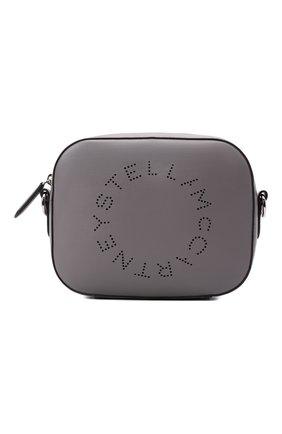 Женская сумка stella logo mini STELLA MCCARTNEY серого цвета, арт. 700266/W8542 | Фото 1 (Ремень/цепочка: На ремешке; Размер: mini; Материал: Текстиль, Экокожа; Сумки-технические: Сумки через плечо)