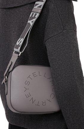 Женская сумка stella logo mini STELLA MCCARTNEY серого цвета, арт. 700266/W8542 | Фото 2 (Ремень/цепочка: На ремешке; Размер: mini; Материал: Текстиль, Экокожа; Сумки-технические: Сумки через плечо)